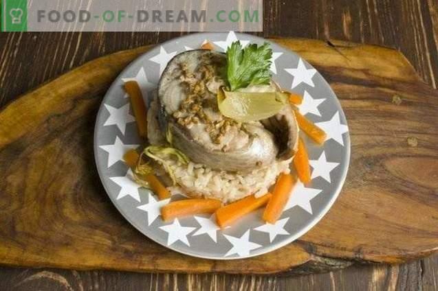Gebackener Fisch im Ärmel - Thunfisch im Ofen