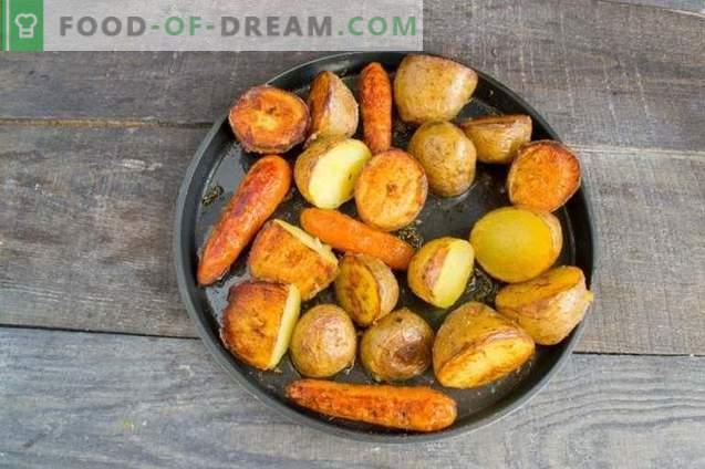 Hühnergulasch mit gebackenem Gemüse und Wurst