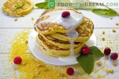 Maispfannkuchen - Pfannkuchen auf Kefir mit Maismehl