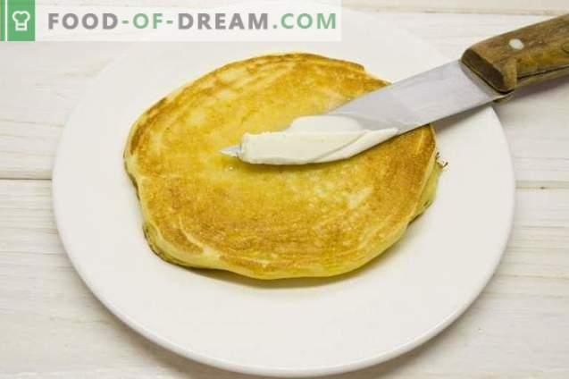 Maïspannenkoeken - pannenkoeken op kefir met maïsmeel