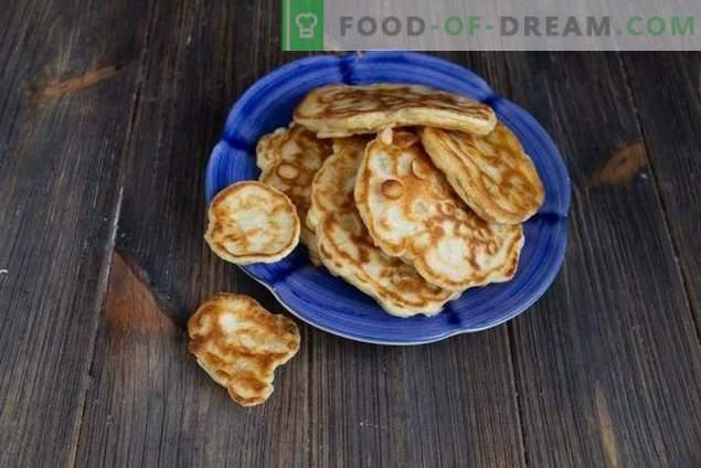 Krapfen mit Mais und Zwiebeln - echtes hausgemachtes Fast Food