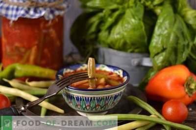Snijbonen in tomaat voor de winter