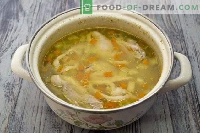 Hühnersuppe mit Gemüse und Nudeln