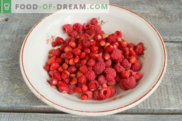 Verschiedene Beerenmarmelade - Geschmack des Sommergartens