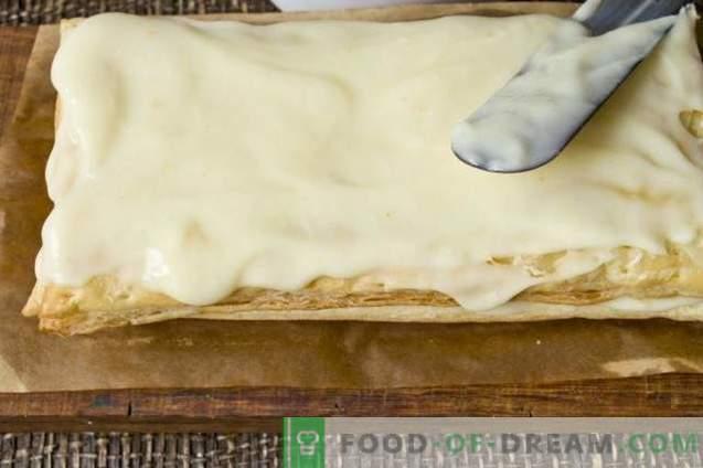 Napoleon-Gebäck mit Vanillesauce