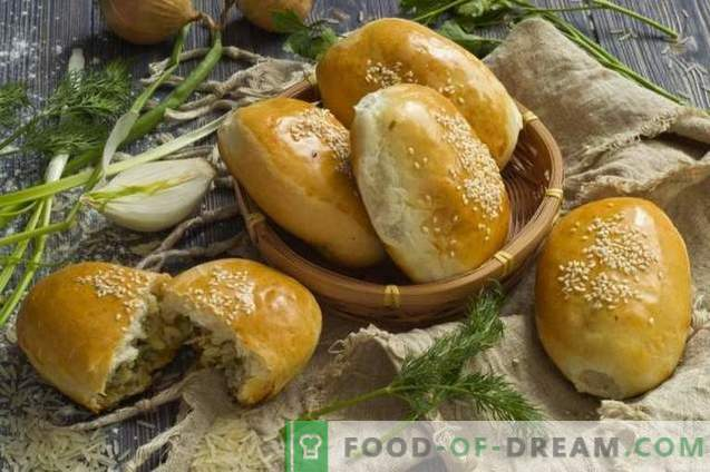 Pastetchen mit Reis und Ei im Ofen