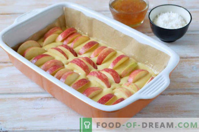Apfelkuchen mit Zitronenmarmelade, Rezept im Ofen