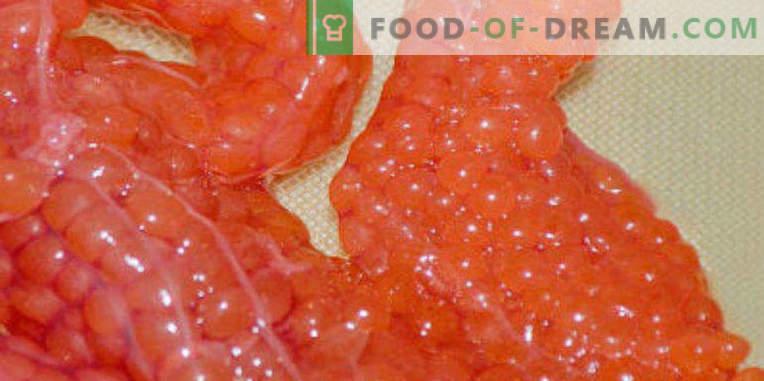 Wie man den roten Kaviar zu Hause richtig zubereitet und lecker macht
