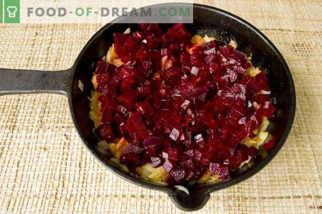 Rote-Bete-Suppe mit Hühnchen und Champignons