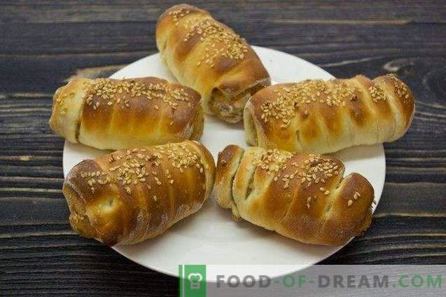 Homemade Chicken Sausages in Yeast Dough