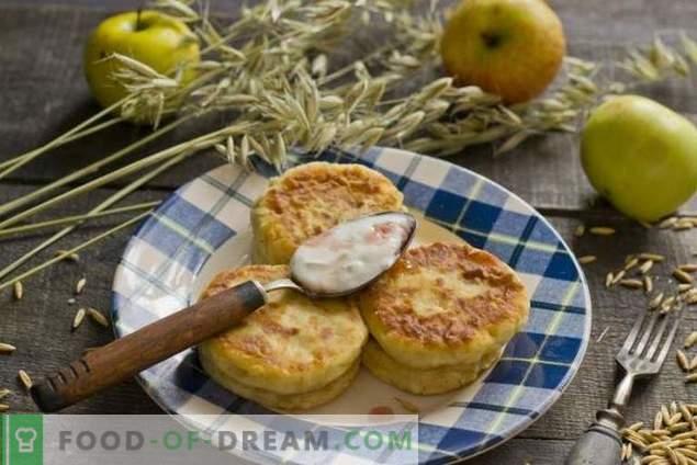 Dieetkaaskoekjes met appels