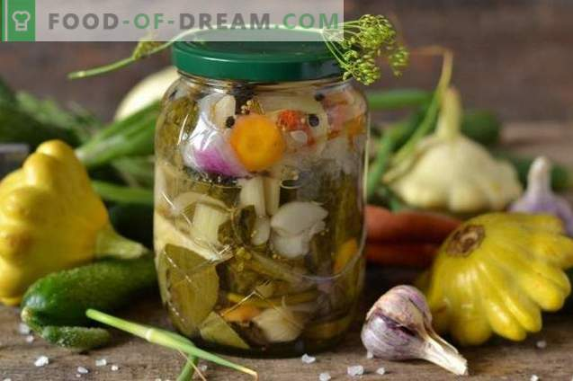 Salat für den Winter mit Patissons