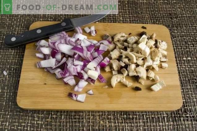 Gefüllte im Ofen gebackene Pilze