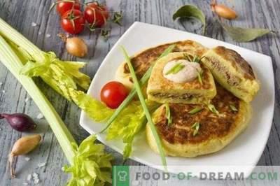 Potato Zrazy - Kartoffelkoteletts mit Hühnerleber