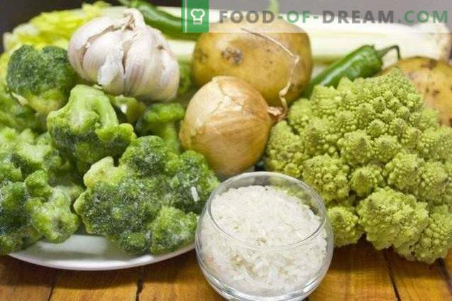 Mageres Broccoli und Romanesco-Cremesuppe