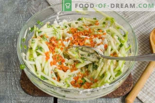 Zucchini-Pfannkuchen mit Haferflocken - Essen und Abnehmen!