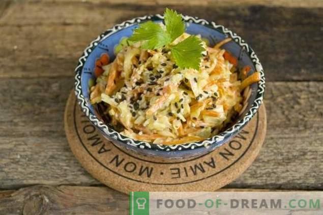 Leichter Hühnersalat mit Käse und Karotten