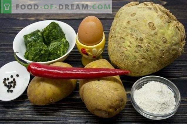 Gnocchi mit Sellerie, Spinat und Kartoffeln