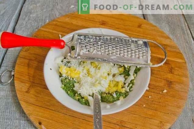 Puffs mit Spinat, Ei und Käse