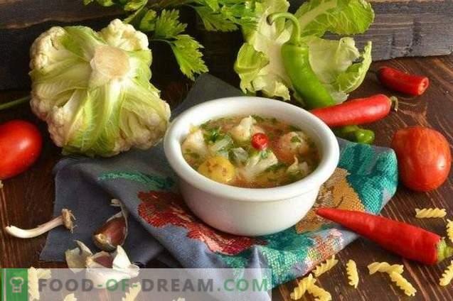 Vegetarijanska juha s cvetačo