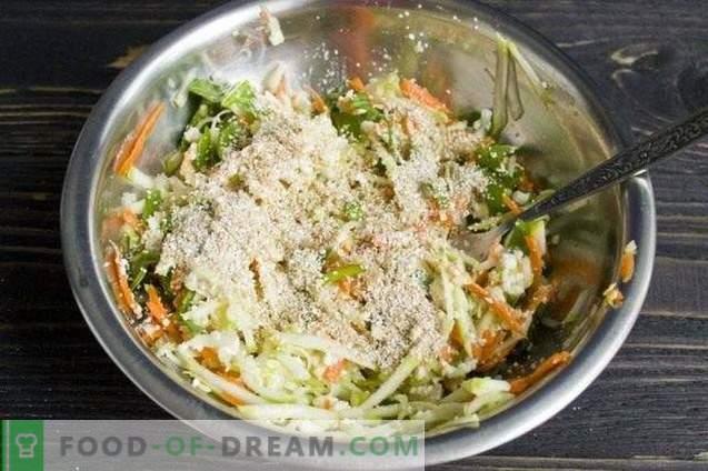 Zucchini-Auflauf mit Hüttenkäse und Spinat