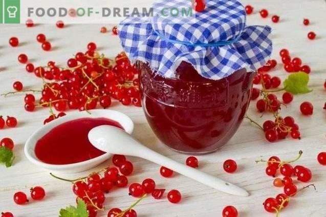 Rote Johannisbeergelee für den Winter