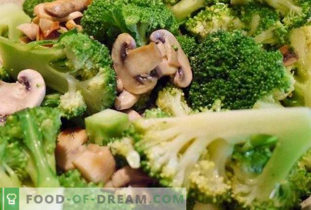 Broccoli mit Pilzen
