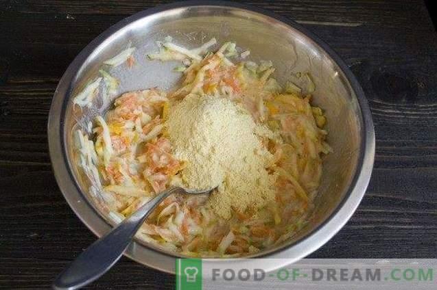Gemüsepfannkuchen mit Patissons und Parmesan