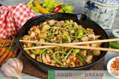 Hähnchen mit Gemüse im chinesischen Stil