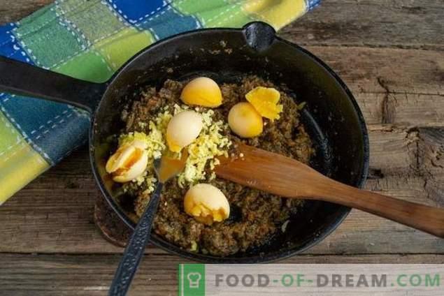 Prosta przekąska z jajkiem z pasztetem grzybowym