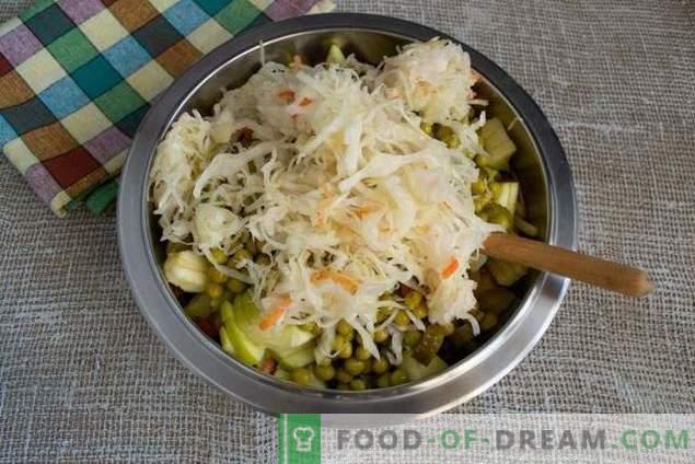 Vinaigrette mit Apfel und Sauerkraut - köstlicher Salat zum Fasten