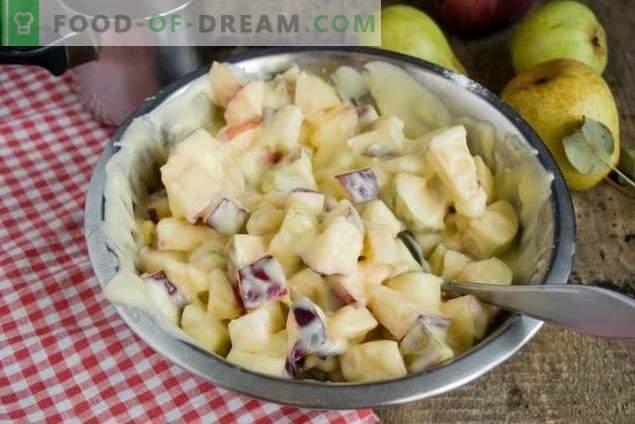 Ciasto z gruszkami i jabłkami - jesienny deser herbaciany