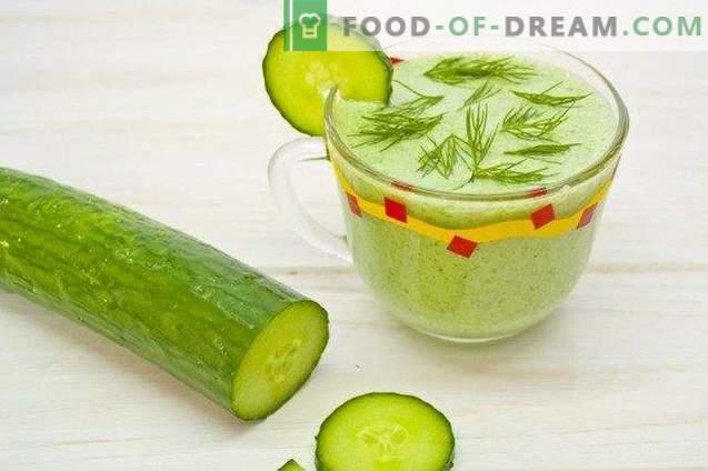 Smoothies mit Gurke und Spinat
