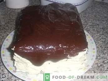 Wie man einen Kuchen kocht Vogelmilch mit Grieß, ein detailliertes Rezept.