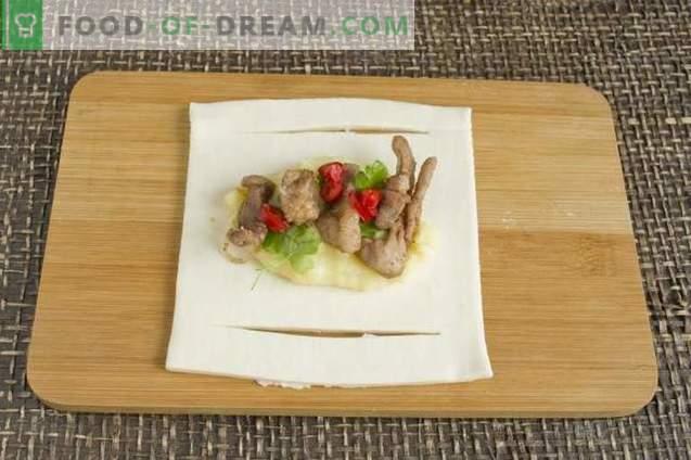 Puffs mit Fleisch, Kartoffeln und Käse