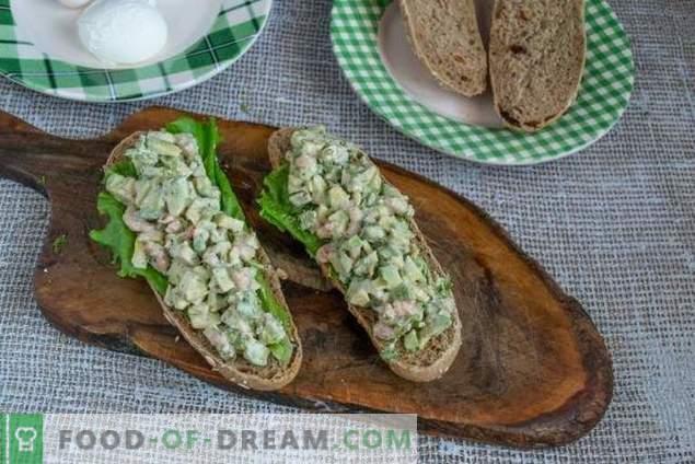 Avocado-Garnelen-Sandwich - einfach und lecker