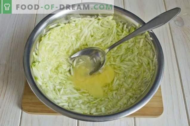 Zucchini-Krapfen mit Maismehl