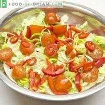 Gemüsesalat mit Zitronen-Zwiebel-Dressing