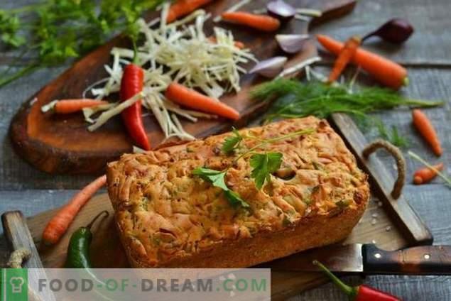 Leckere Torte mit Kohl im Ofen