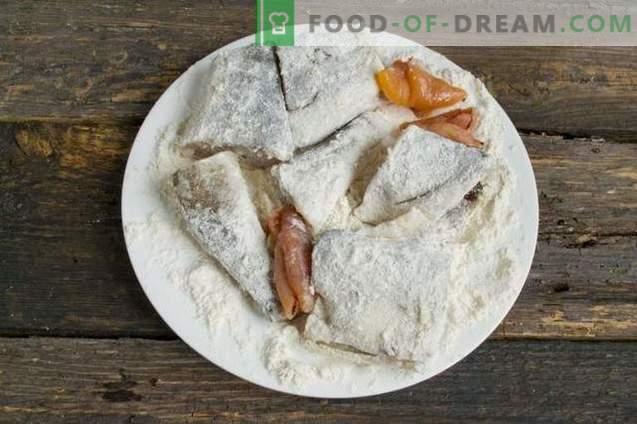 Leckere Navaga im Ofen - Fisch unter der Marinade