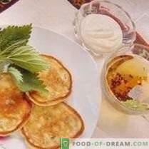 Pfannkuchen mit junger Brennnessel
