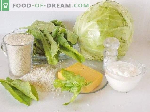 Kohlrouladen mit Spinat
