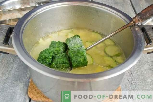 Grüne Spinatsuppe