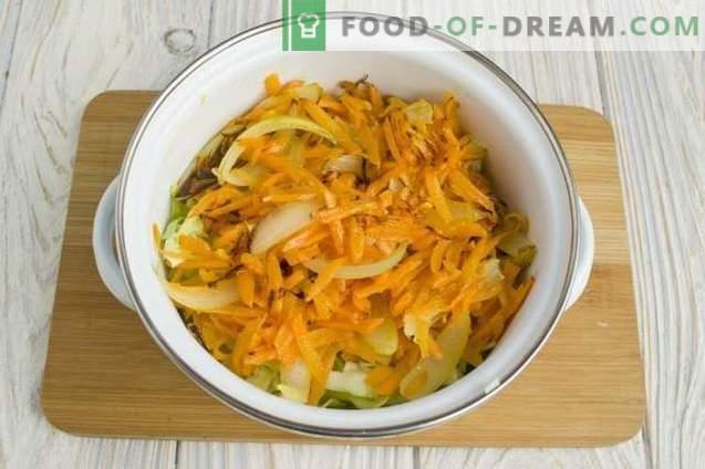 Sopa de pollo con guisantes verdes y champiñones