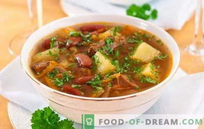 Suppe mit Bohnen und Fleisch: Wie kocht man eine leckere Bohnensuppe? Einfache Rezepte für Suppe mit Bohnen und Fleisch