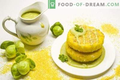 Polenta with Brussels Sprouts Sauce
