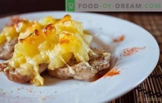 Co może być bardziej smaczne niż filet mięsny z ananasami w piekarniku? Przepisy z filetów z ananasem w piekarniku (kurczak, ryba, wieprzowina)