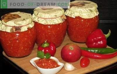 Adjika für den Winter: Wir bewahren einen scharfen Geschmack! Rezepte adjika für den Winter mit Äpfeln, Zucchini, Meerrettich, Auberginen, Kürbis, Pflaumen, Gurken, Birnen, Nüssen