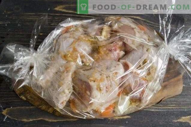 Hähnchen in der Hülse gebacken
