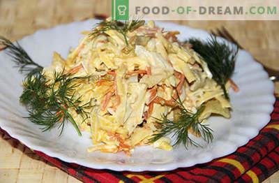 Geräucherter Käsesalat - die besten Rezepte. Wie man richtig und lecker gekochten Salat mit geräuchertem Käse kocht.